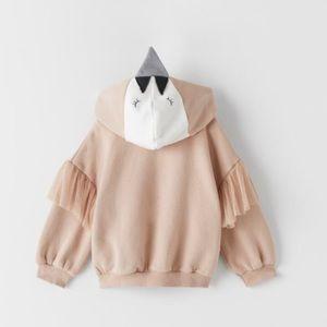 NWT 9-12 months swan sweater shirt
